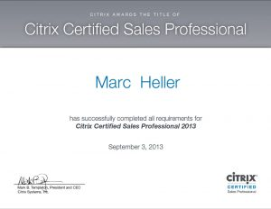 Citrix – Certified Sales Professional